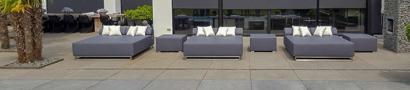 outdoor double lounger
